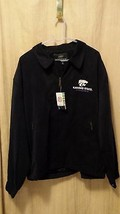 Kansas state wildcats mens jacket NWT black polyester sueded 2XL license... - $47.82