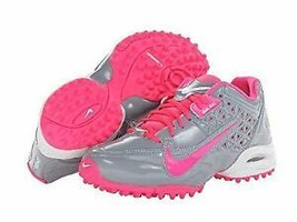 Nike Air Speedlax 4 Women's Lacrosse Turf Shoes 616301006 GREY AND PINK ... - $33.30