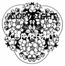 BLOSSOM FLOWER DESIGN mounted rubber stamp - $7.50