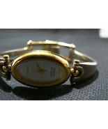 Vintage Anne Klein Quartz Gold/Silver Tone Women's Cuff Wrist Watch - $8.41