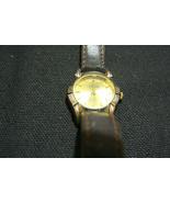 Vintage Edison Quartz Gold Tone Tone Women's Leather Wrist Watch - $8.41