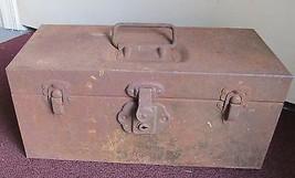 "KENNEDY KITS VTG TOOL BOX FISHING CHEST STORAGE BOX- 14""x 6""x6 1/2""- HVY... - $44.91"