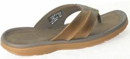 Timberland Men's Fells Slide Sandals Slipper Flip Flops Brown LEATHER 53... - $89.89