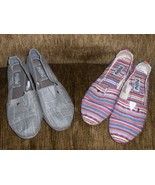 Mad Love Shoes Size 6 Womens Multi Color Stripe... - $19.97