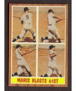 ROGER MARIS Card RP #313 Blasts 61st Yankees 1962 T Free Shipping - $2.75