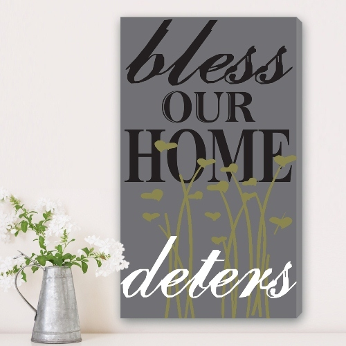 Bless Our Home Personalized Canvas Print