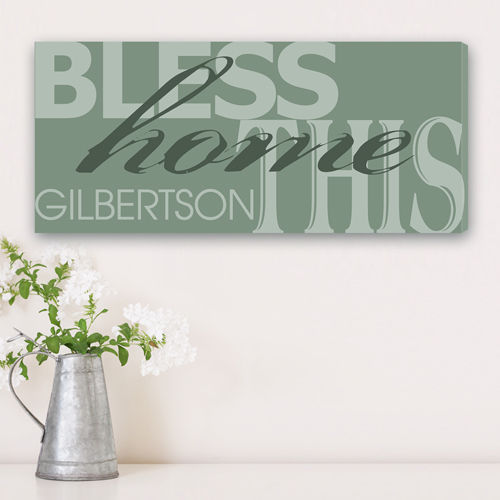 "8""x18"" Canvas - Bless This Home Canvas Print"