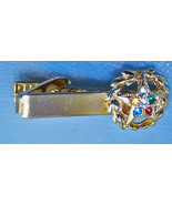 Vintage Masonic Goldtone Metal Tie Clip With St... - $5.99