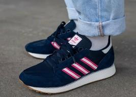 Adidas Herren Original Wald Grove Schuhe Nacht Indigo/Wolke Weiss/Pink - $107.86