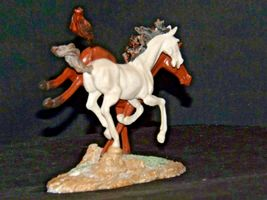 Brown and white Horse figurine AA19-1691 Vintage image 6