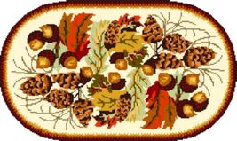 "Latch Hook Pattern Chart: READICUT #226 Fall Braid 45"" x 75"" oval - EMAIL2u - $6.95"