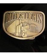 Vintage Raleigh Lights Belt Buckle 18 Wheeler Trucker Birthday Fathers D... - $50.00