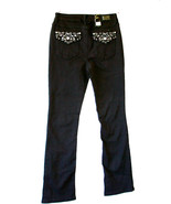 Earl Jeans Black Slim Boot Cut Jeans Fancy Embe... - $34.99
