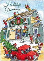Cheerful Contractors Holiday Cards - $60.50+