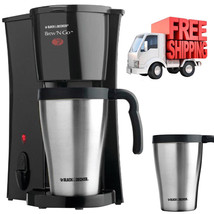 Coffee Maker Machine Stainless Steel Travel Mug Black Commercial Black D... - $24.70