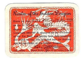 Realm of the Golden Dragon Card 1945 USS Nucleus Crossing Longitude 180 - $34.65