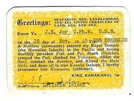 Seafaring Men Landlubbers All Living Creatures Land Sea Sky Card King Ka... - $34.65