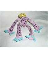 K & M INTERNATIONAL Slumpers Plush Frog Athena #4 Purple Yellow Aqua 199... - $29.69