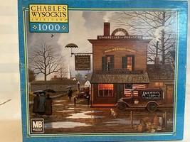Charles Wysocki 1000 Piece Jigsaw Puzzle Game Dampy Donuts on a Dreary Day - $23.27