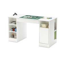Office Furniture Desk South Shore Crea Collection Pure White Craft Table... - $452.99