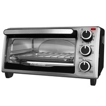Silver Toaster Oven Black Decker Stainless Steel 4 Slice Pizza Warm & Co... - $89.97
