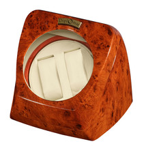 Dual Watch Winder Watchwinder Winders Automatic Electric Burl Wood Gift ... - $108.97
