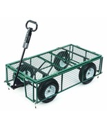 Steel Utility Cart Removable Folding Sides Farm Ranch Green 1000 Lb Capa... - $287.99
