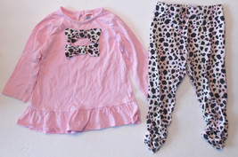 Fisher Price Toddler Girls 2pc Long Sleeve Leggings Outfit 18M VGUC - $8.19