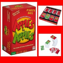Set Apples To Apples Party Box 504 Card Tray Instructions Game Play Supe... - $20.74