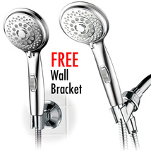 7-Setting Handheld Shower with Pause Switch, Extra-Long Hose, Low-Reach ... - $24.99