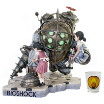Bioshock Big Daddy LIMITED Statue - Bouncer + Little Sister NUM #/400 Re... - $799.98
