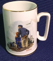 "1985 Norman Rockwell Museum Collectible Porcelain mug ""Looking Out to Sea"" - $8.59"