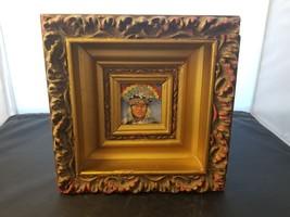 Gary Burnett Signed & Framed Hopi Rainbow Dancer Painting 2014 Hopi Res 9X9 - $190.07