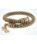 Disney Parks Mickey Mouse Gold Metal Wrap Bracelet Alex & Ani New with Tags - $1.612,11 MXN