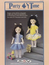 Party Time, Fibre Craft 11.5 inch Doll Clothes Crochet Pattern Booklet F... - $2.95