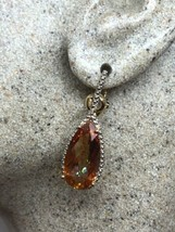 Vintage GoldEn Mystic Topaz Earrings Deco Rose Gold 925 Sterling Silver ... - $132.74
