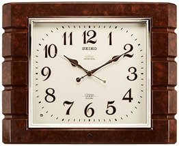 Seiko Clock Clock Wall Clock Chime and Strike Radio Clock Twin -Pas RX209B - $318.81