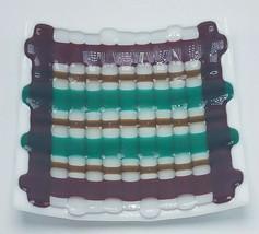 Beautiful Mid Century Fused Art Glass Change Tray Jewelry Tray Ashtray E... - $31.95