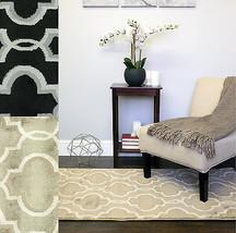 "Modern 2-Tone Geometric  ""Surya"" Decorative 3'x5' Floor Area Rug Carpet - $40.49"