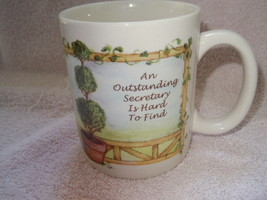 An Outstanding Secretary is Hard To Find Mug Russ New - $3.99