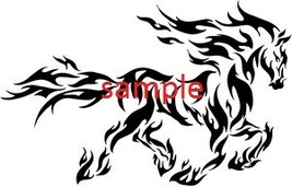 FLAMING HORSE CROSS STITCH CHART - $10.00