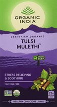 Organic India Tulsi Mulethi 25 Tea Bags,Pack of 5,Stress Relieving & Soothing - $24.50