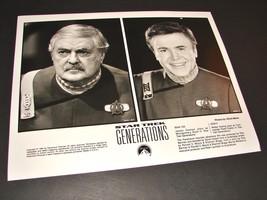 1994 Movie Star Trek Generations 8x10 Press Photo James Doohan Walter Koenig - $10.44