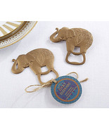 1 Lucky Golden Elephant Bottle Opener Wedding Reception Gift Party Birthday - $5.92