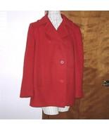 Vintage REd Wool Military Overcoat PeaCoat JG Hook Red Wool Jacket Pea Coat - $55.00