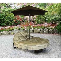 Outdoor Patio Lounger Furniture Double Lounge Couch Pool Umbrella Table ... - $399.99