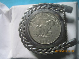 Vintage PATRIOTIC COIN UNISEX Metal Belt Buckle... - $75.00