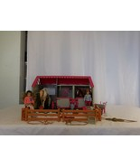 Lori Mini Doll Horse Haven Stable And Accessories + 2 Horses + 2 Dolls ... - $43.57