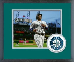Robinson Cano 2016 Seattle Mariners - 11 x 14 Team Logo/Matted Framed Photo - $43.55