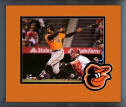Adam Jones 2016 Baltimore Orioles - 11 x 14 Team Logo/Matted Framed Photo - $42.95